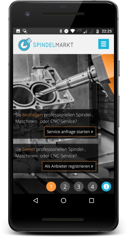 Projekt: Spindelmarkt.de (Screenshots)